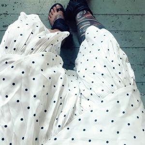 453642d573 H&M Skirts | Hm Polka Dotted Calflength Flounce Skirt | Poshmark